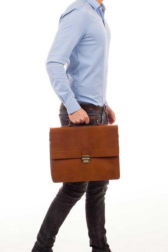 Burkely Vintage Dean Briefcase Aktetas - Cognac