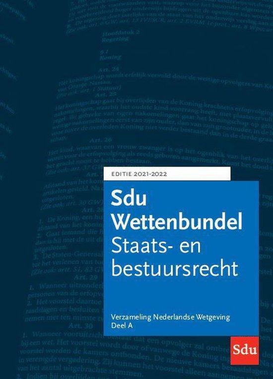 Omslag van Educatieve wettenverzameling  -   Sdu Wettenbundel 2021-2022 (set a 3 delen)