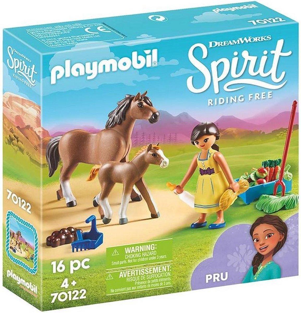 PLAYMOBIL Spirit Pru met paard en veulen - 70122