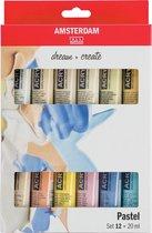 Amsterdam Standard Series Acrylics Pastel Set 12 × 20 ml