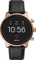 Fossil Q Explorist HR Smartwatch Roestvrijstaal GPS - Roségoud