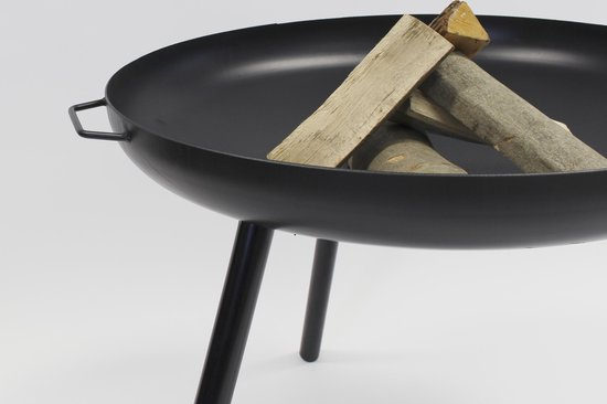 2L Home & Garden vuurschaal Robusta Ø80x60cm hoog - 2 handvaten - hoge kwaliteit en zeer stevig - zwart