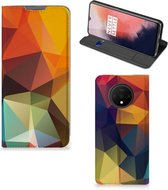 Stand Case OnePlus 7T Polygon Color