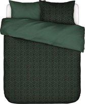 Essenza Home dekbedovertrek Bory green - lits jumeaux (240x200/220 cm incl. 2 slopen)