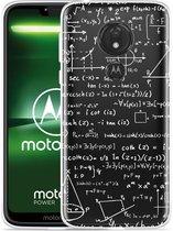 Moto G7 Power Hoesje Wiskunde wit