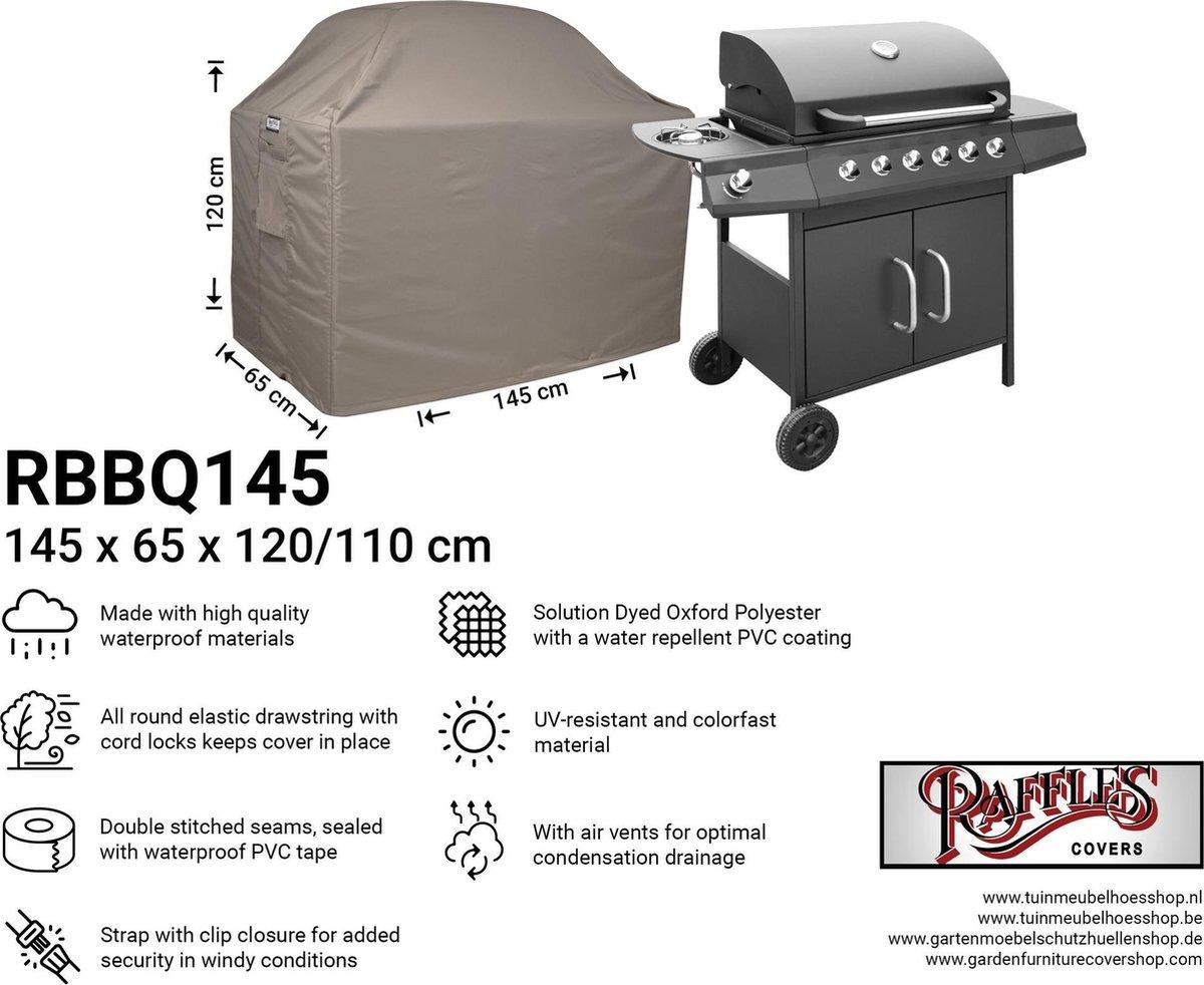 Hoes voor buitenkeuken 145 x 65 H: 120/110 cm RBBQ145