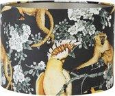 Light & Living Velours - Cilinder Lampenkap - Parrot Jungle - Ø30x21 cm