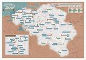 Kraskaart - Scratch Map - Belgische Bieren - Multicolor