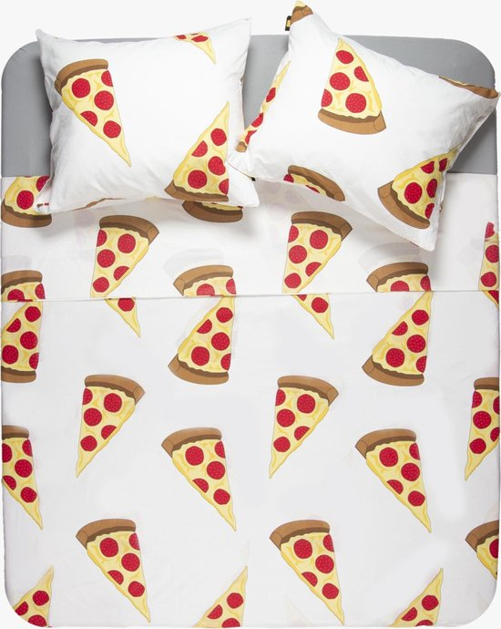 Y-NOT - Pizza - Dekbedovertrek - Katoen - Lits-jumeaux - 240x200/220 cm - Multi
