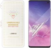 Samsung Galaxy S10 Plus Diamond Film Folie screenprotector Full-screen | Fingerprint UnlockingTransparant/Clear - van Bixb