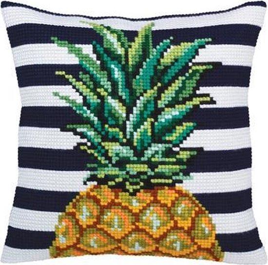 Voorbedrukt kruissteek Kussenpakket pineapple  - ananas Collection d'Art  5359