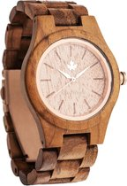 De officiële WoodWatch | Teak Rosegold | Houten horloge dames