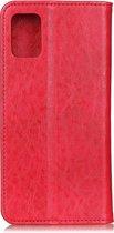 Mobigear Magnetic Retro Luxe Wallet Hoesje Rood Samsung Galaxy A51