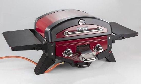 Fire Beam Tafel gasbarbecue en roker Dallas zwart