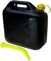 Jerrycan zwart voor brandstof - 5 liter - inclusief schenktuit - benzine / diesel