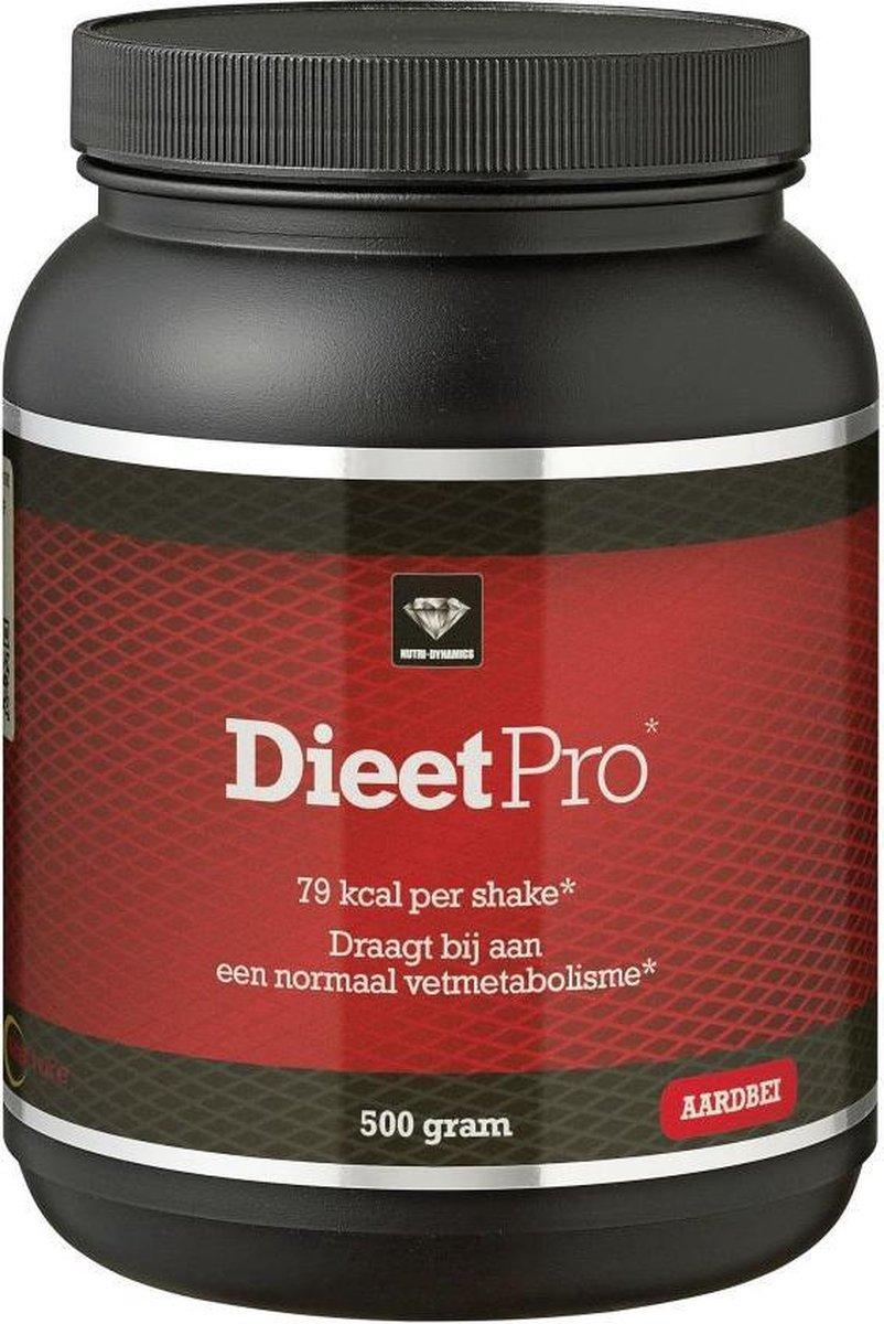 Nutri Dynamics Dieet Pro Aardbei - 500 g - Eiwitshake