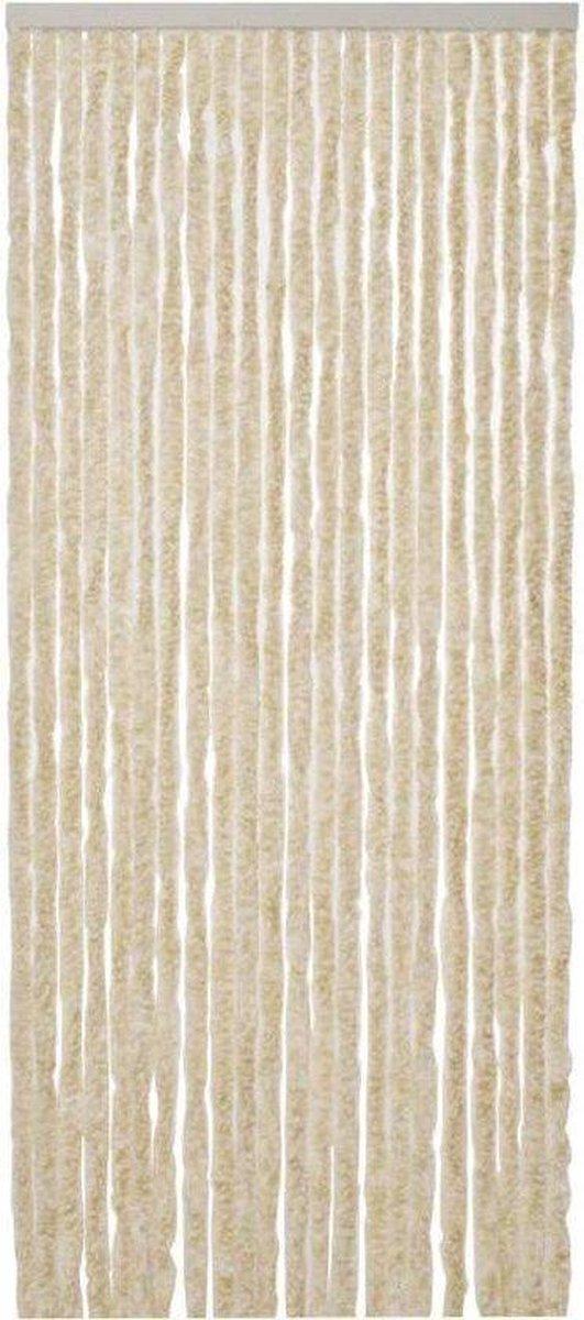 Cortenda Deurgordijn Kattenstaart - 90x220 cm - Beige/Wit
