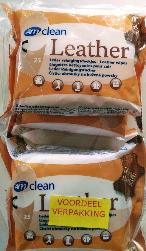 4x 25 stuks doekjes voor het reinigen van leer - lederen bank - lederen stoelenleder reinigingsdoekjes