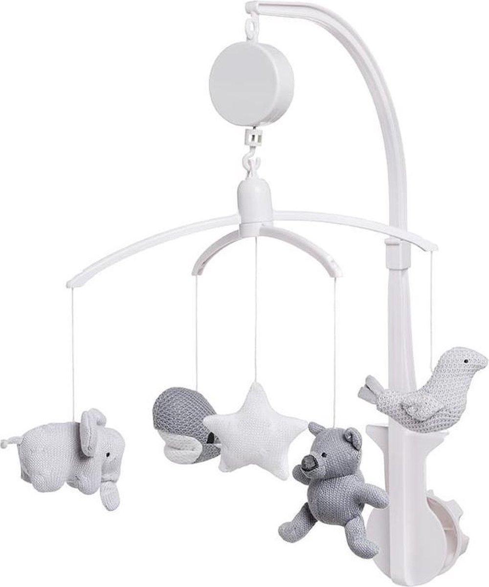 Baby's Only Muziekmobiel - zilvergrijs/grijs/wit