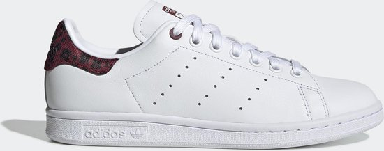 Adidas Stan Smith W Wit / Bordeaux - Dames Sneaker - EE4896 - Maat 39 1/3