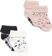 Noppies - Socks 4pck Eva - Assorti - Vrouwen - Maat 0-3 maanden