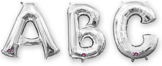 BOLAND BV - Zilverkleurige aluminium letter ballon - Decoratie > Ballonnen
