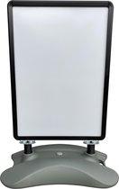 4offiz New York Black verrijdbaar aluminium stoepboard A1 - zwart