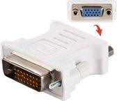 2 stuks ! DVI 24+1 Pin Male to VGA 15Pin Female adapter(White)