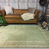 Vintage vloerkleed Infinity 120x170 - Groen