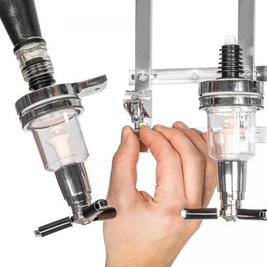TecTake Bar Butler 4-voudige drankdispenser - muurdispenser