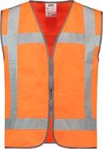 Tricorp veiligheidsvest RWS rits - Fluor oranje - 453019 - maat 3XL-4XL