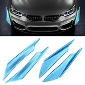 4 STKS Auto-Styling Flank Decoratieve Sticker (Blauw)