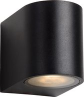 Lucide ZORA-LED Wandspot Buiten - LED Dimb. - GU10 - 1x5W 3000K - IP44 - Zwart