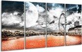Glasschilderij Modern   Rood, Grijs, Zwart   160x80cm 4Luik   Foto print op Glas    F004410