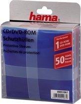 Hama Cd/Dvd-Rom Papieren Sleeves - 50 Stuks
