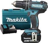Makita DHP482RF 18V (Klop)/boor-schroefmachine 3.0Ah - geleverd met 1 accu