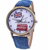 Hidzo Horloge London Ø 40 - Blauw