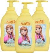 Zwitsal Disney Frozen Bad & Wascreme - 3 x 400 ml - Voordeelverpakking