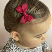 Haarspeldje met strik medium beauty | Rood, Paars | Baby, Meisje