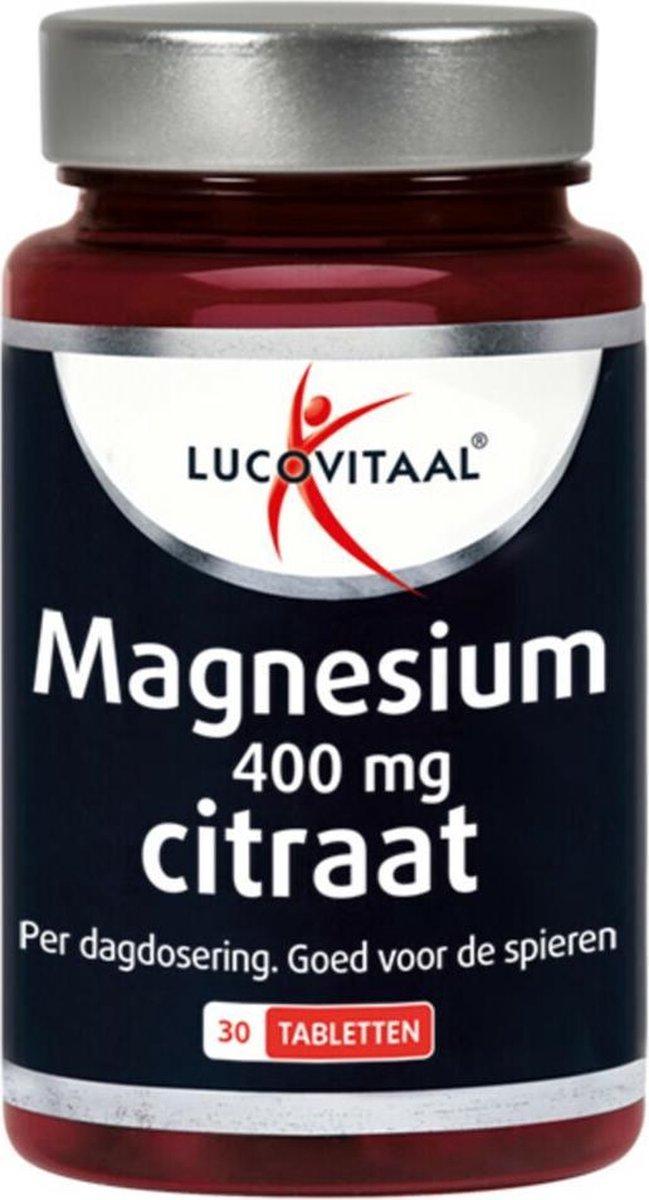 4x Lucovitaal Magnesium Citraat 400mg 30 tabletten