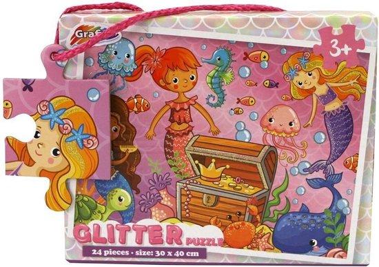 Puzzel Glitter 24 Stuks 2 Assorti