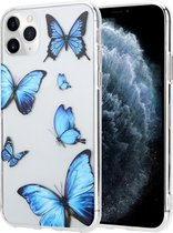 ShieldCase iPhone 12 / iPhone 12 Pro - 6.1 inch hoesje met vlinders