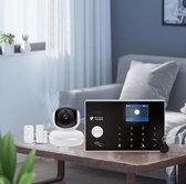 Alarmhub 2 start alarmsysteem met indoor eye camera - Smart Home Beveiliging -  Alarmhub plus alarmsysteem met camera - Keypad - uitbreidbaar- thuis modus - wifi - Sirene - Melding op app - SMS, GSM en SIM kaart - Back up batterij