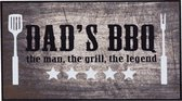 MD Entree - Barbecue Mat - Dad's BBQ - 67 x 120 cm