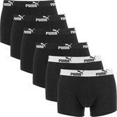 PUMA - heren boxershorts basic 6-pack zwart II - maat S