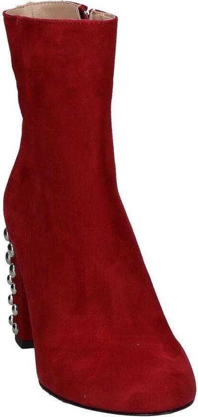 Rode Enkellaarzen Met Studs Via Limone Dames 38