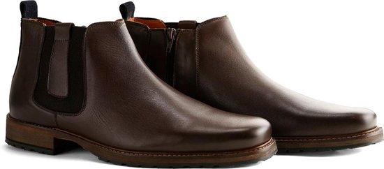 Travelin London Chelsea - Nette Leren Chelsea Boots - Heren - Donkerbruin - Maat 46