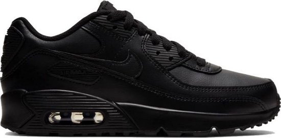 Nike Air Max 90 Leather GS Zwart - Kinder Sneaker - CD6864-001 - Maat 38.5