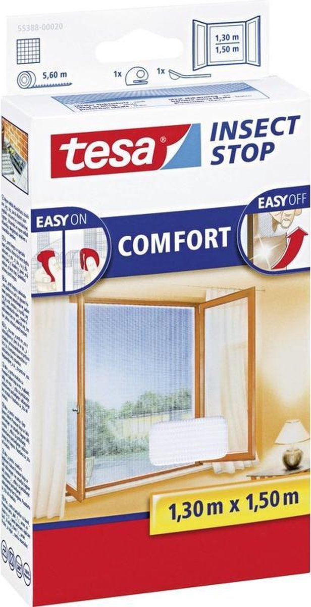 Tesa Comfort - Raamhor - 130x150 cm - Wit
