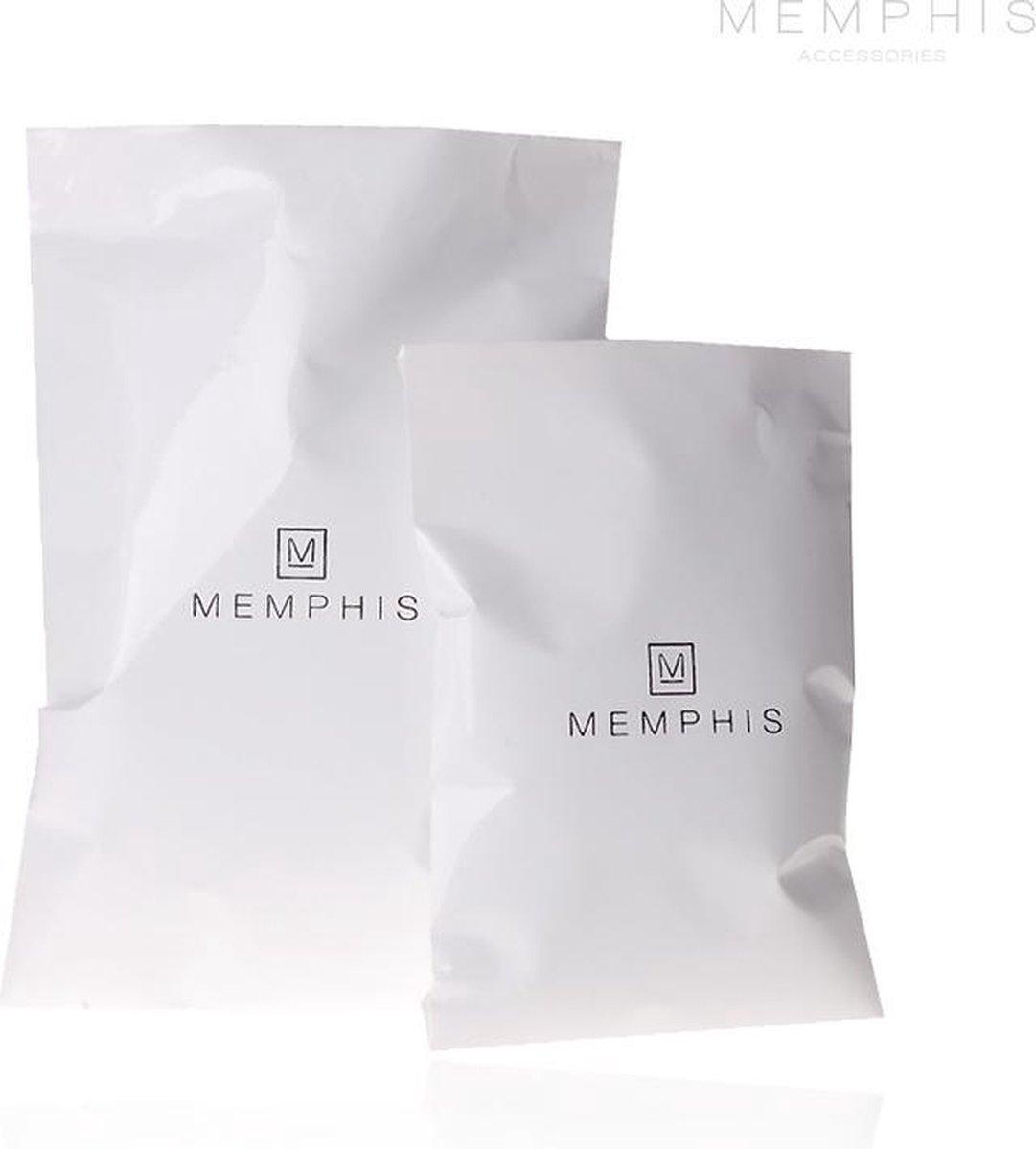 Memphis Kralen armband Lavastone Royalty Grey - Memphis